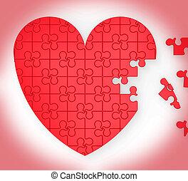 serce, niedokończony, zagadka, małżeństwo, propozycja, widać