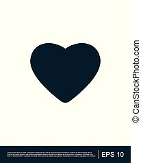 serce, płaski, apps, websites, garnitur, grając kartę, ikona
