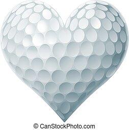 serce, piłka, golf