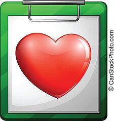 serce, pielęgnować, wykres