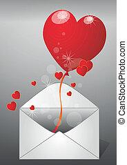 serce, poczta
