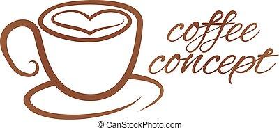 serce, pojęcie, miłość, coffe filiżanka