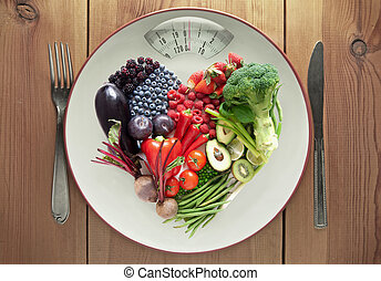 serce, pojęcie, warzywa, dieta, formułować, owoc