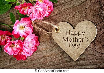 serce postało, dzień, karta, matki