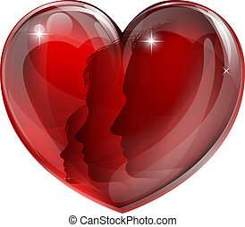serce, rodzina, kochający