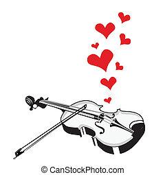 serce, romansowy śpiew, muzyka, skrzypce, interpretacja