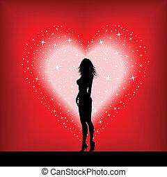 serce, sexy, samica, gwiaździsty