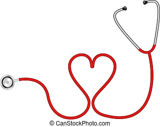serce, stetoskop, formułować
