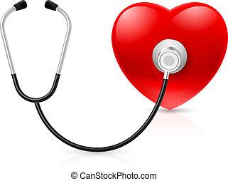 serce, stetoskop