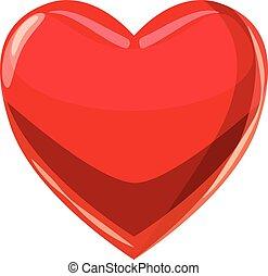 serce, styl, plying, garnitur, ikona, rysunek, karta