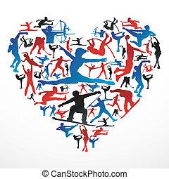 serce, sylwetka, lekkoatletyka