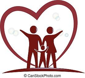 serce, symbol, miłość, rodzina, logo
