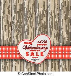 serce, tło, drewniany stół, valentinstag