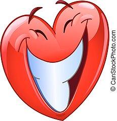 serce, uśmiech, cielna