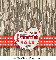 serce, valentinsday, tło, drewniany