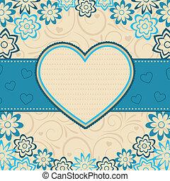 serce, wektor, frame., illustration.