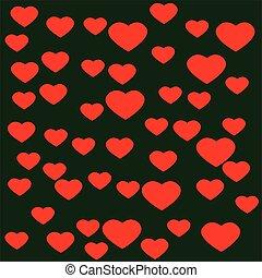 serce, zielone tło