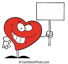 serce, znak, dzierżawa, szczęśliwy, czysty