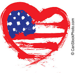 sercowa forma, amerykańska bandera