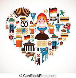 sercowa forma, niemcy, ikony
