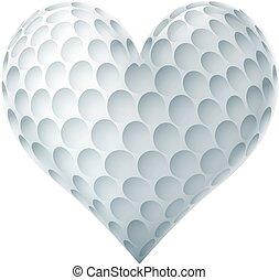 sercowa forma, piłka, golf