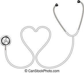 sercowa forma, stetoskop