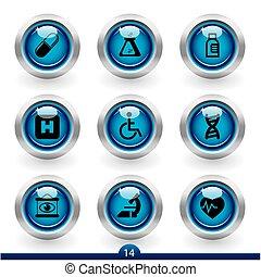 seria, medyczny, -, 14, ikona