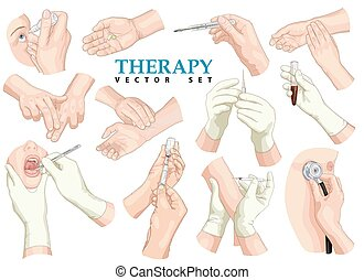 set., wektor, therapy.