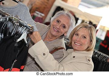 shopping., dojrzali kobiety