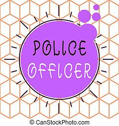 showcasing, ręka, mający kształt, policja, próbka, officer., wykonanie, fotografia, design., konceptualny, pisanie, pokaz, drużyna, handlowy, demonstrowanie, multicolour, prawo, obiekt, oficer, nierówny, asymetryczny