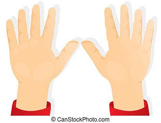siła robocza, dzieci, naprzód, dłonie
