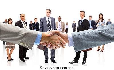 siła robocza, ludzie handlowe, potrząsanie