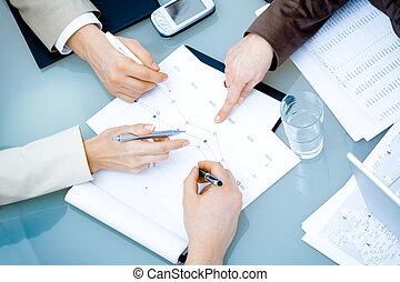 siła robocza, spotkanie, handlowy
