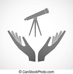 siła robocza, wektor, teleskop, propozycja, dwa