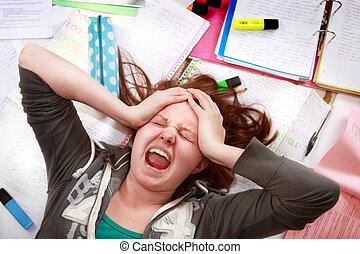 siła, teenage, egzamin