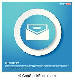 sieć, abstrakcyjny, błękitny, ikona, poczta, rzeźnik, guzik, wysyłać