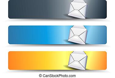 sieć, chorągwie, email