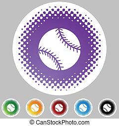 sieć, guzik, baseball, odizolowany, tło