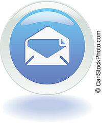 sieć, guzik, email