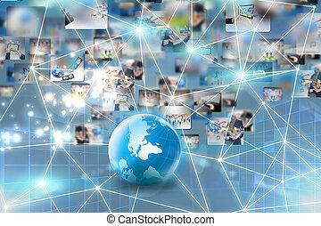 sieć, handlowy