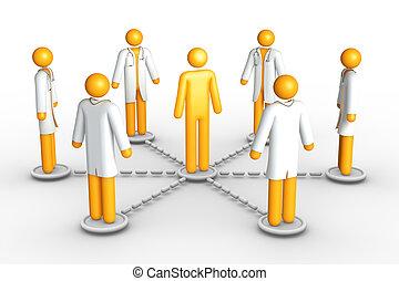 sieć, healthcare