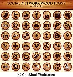 sieć, icons., pikolak, budowa drewna, towarzyski