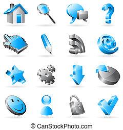 sieć, icons., wektor