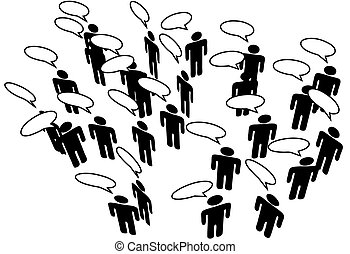sieć, ludzie, media, komunikować, mowa, połączyć, towarzyski