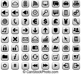 sieć, &, media, pikolak, internet, nowy