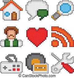 sieć, pixel, icons.