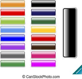 sieć, rozmiar, multi barwny, połyskujący, 2.0, aqua, redagować, style., internet, jakiś, buttons., zbiór, odpoczynek
