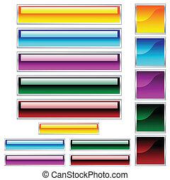 sieć, scaleable, pikolak, dobrany, błyszczący, kolor, kwadraty, prostokąty