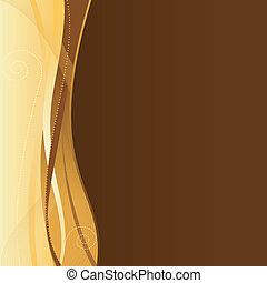 sieć, szablon, space., handlowy, złoty, brązowy, zbiorowy, kopia