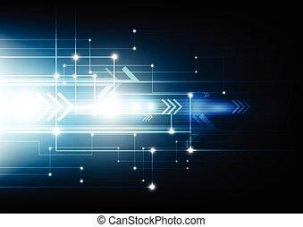 sieć, tło, cyfrowy